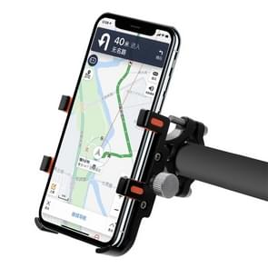 MPB-91 Motorcycle Six Claws Aluminium Alloy Mobile Phone Holder Bracket(Black)