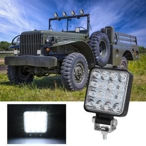 D0038 11.2 W 10-30V DC 6000K 3 inch 16 LEDs vierkante offroad truck auto rijden licht werk licht Spotlight mistlicht