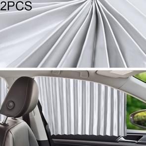 2 PCS Auto Auto Zonnescherm gordijnen Voorruit Cover voor de achterbank (Zilver)