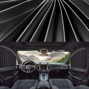 2 PCS Auto Auto Zonnescherm gordijnen Voorruit Cover voor de voorstoel (Zwart)
