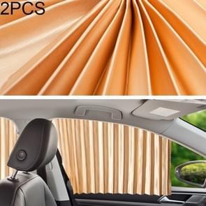 2 PCS Auto Auto Zonnescherm gordijnen Voorruit Cover voor de voorstoel (Goud)