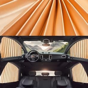 4 in 1 Auto Auto Zonnescherm Gordijnen Voorruit Cover Set (Goud)
