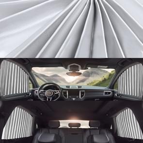 4 in 1 Auto Auto Zonnescherm Gordijnen Voorruit Cover Set (Zilver)
