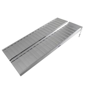 [US Warehouse] 5FT Portable Two-section Folding Aluminium Rolstoelhelling
