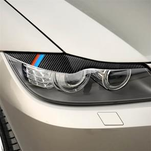 1 paren driekleur Carbon Fiber auto lamp wenkbrauw decoratieve sticker voor BMW E90/318i/320i/325i 2005-2008  drop lijm versie