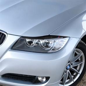 1 paren driekleur Carbon Fiber auto lamp wenkbrauw decoratieve sticker voor BMW E90/318i/320i/325i 2009-2012