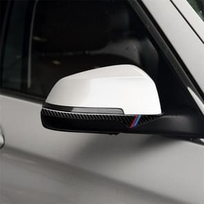 Driekleur B Carbon Fiber auto achteruitkijkspiegel bumper strip decoratieve sticker voor BMW 5 serie E60 2008-2010/F10 2011-2017/F07 2010-2015/F01 2010-2015