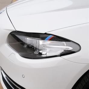 Driekleur Carbon Fiber auto lamp wenkbrauw decoratieve sticker voor BMW 5 serie F10 2010-2013