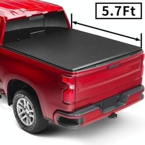 [Amerikaans pakhuis] Pick-up Soft 3-vouwbare Tonneau Cover voor 2009-2018 Dodge Ram 1500 / 2011-2018 Ram 2500/3500 Maat: 5 7-FT