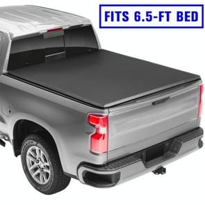 [Amerikaans pakhuis] Pick-up Soft 3-vouwbare Tonneau Cover voor Dodge 2002-2018 Ram 1500 / 2003-2018 Ram 2500/3500 Maat: 6 5-FT Bed