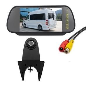 PZ506 Auto Waterdicht Achteruitrijbeeld Camera + 7 inch Rearview Monitor voor Mercedes Benz