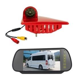 PZ462 Auto Waterdichte Rem Licht View Camera + 7 inch Rearview Monitor voor Renault / Nissan / Opel