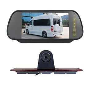 PZ461 Auto Waterdicht Hoge Positie Staart Lichtrem Licht View Camera + 7 inch Achteruitkijkmonitor voor Mercedes Benz / Volkswagen