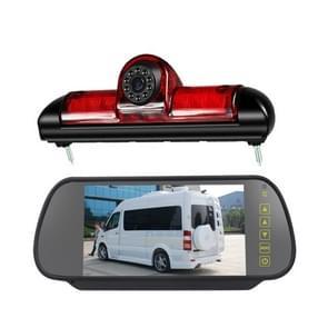 PZ460 Auto Waterdicht HD High Position Brake Light View Camera + 7 inch Rearview Monitor voor Fiat / Citroen / Peugeot