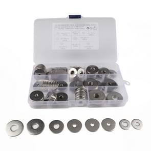 150 STKS ronde vorm RVS platte wasmachine geassorteerde Kit voor auto/boot/Home apparaat