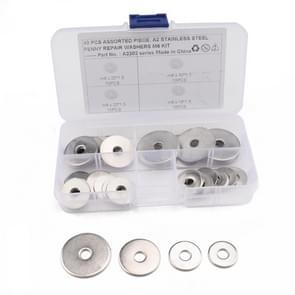40 STKS ronde vorm RVS platte wasmachine geassorteerde Kit voor auto/boot/Home apparaat