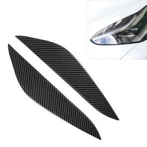 Auto koplamp wenkbrauw voor Tesla Model 3 (Carbon Fiber zwart)