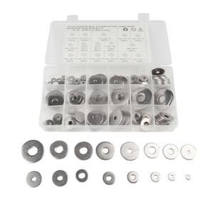 165 STKS ronde vorm RVS platte wasmachine geassorteerde Kit voor auto/boot/Home apparaat