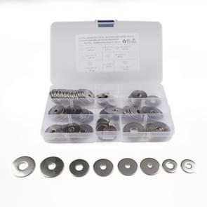 90 STKS ronde vorm RVS platte wasmachine geassorteerde Kit voor auto/boot/Home apparaat