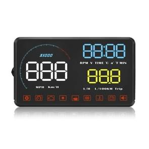 A9 5.5 inch Universal Car OBD2 HUD Vehicle-mounted Head Up Display (Blue)