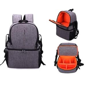 HUWANG Multi-functional Waterproof Nylon Shoulder Backpack Padded Shockproof Camera Case Bag for Nikon Canon DSLR Cameras (Orange)