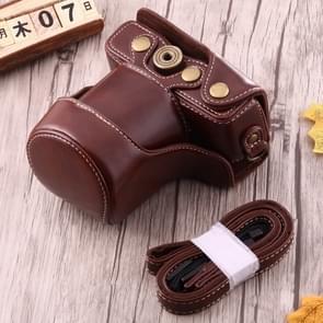 Full Body Camera PU lederen Case tas met riem voor Canon EOS M10 (koffie)