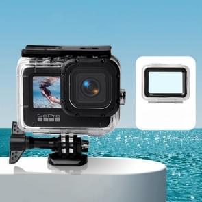Waterdichte behuizing + Touch Back Cover voor GoPro HERO9 Zwart