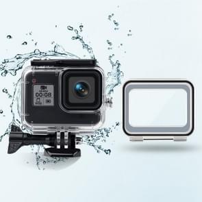 45m waterdichte behuizing + Touch Back Cover voor GoPro HERO8 Zwart