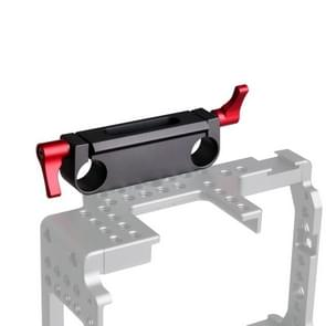 WARAXE 1501 Dual Railblock Connector Support Bracket for 15mm Rail Rod Support System (Black)