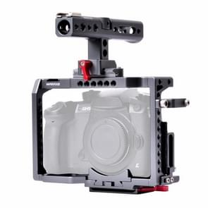 WARAXE 2851 Camera Video Cage Stabilizer with Quick Release Top Handle for Panasonic Lumix GH4 / GH5 / GH5S (Grey)