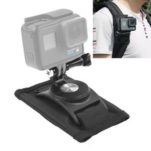 360 Degree Rotating Quick Release Strap Mount Shoulder Backpack Mount for GoPro HERO6 /5 /5 Session /4 Session /4 /3+ /3 /2 /1, Xiaoyi and Other Action Cameras(Black)