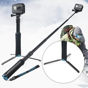Draagbare opvouwbare statief houder Selfie Monopod Stick voor GoPro  HERO 6/5 sessie /5 /4 sessie /4 /3+/3 /2 /1  Xiaoyi Sport camera's  lengte: 23 5-81 cm