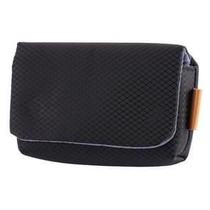 Rhombus Texture Nylon Camera Case Bag for Canon, Sony, Nikon, Micro Single,Digital Cameras, Size:12.5×7.5×4cm (Black)