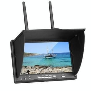 5.8GHz 7 Inch FPV Real-time Graphic Transmitting Receiving Integrated Monitor, with DVR Function, US Plug(Black)