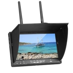 5.8GHz 7 Inch FPV Real-time Graphic Transmitting Receiving Integrated Monitor, No DVR Function, US Plug(Black)