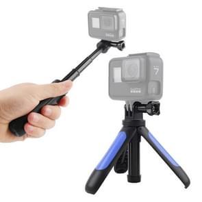 GP446 Multifunctionele Mini Vast statief voor GoPro HERO9 Zwart / HERO8 Zwart /7 /6 /5 /5 Sessie /4 Sessie /4 /3+ /3 /2 /1  DJI Osmo Action  Xiaoyi en andere actiecamera's(Blauw)