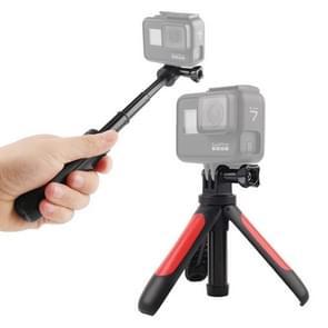 GP446 Multifunctionele Mini Vast statief voor GoPro HERO9 Zwart / HERO8 Zwart /7 /6 /5 /5 Sessie /4 Sessie /4 /3+ /3 /2 /1  DJI Osmo Action  Xiaoyi en andere actiecamera's(Rood)