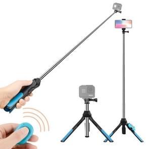 Bluetooth afstandsbediening geïntegreerde statief Selfie Stick voor Sport Camera / 4-6 inch-telefoons  Size:19-93cm(Blue)