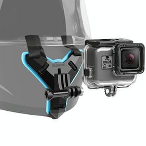Helmet Belt Mount + Waterproof Housing Protective Case for GoPro HERO7 Black /6 /5