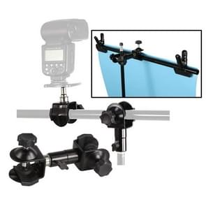 C-Type 2 in 1 Camera Umbrella Holder Clip Clamp Bracket Support for Tripod Light Stand Outdoor Photography