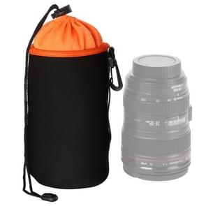 SLR Camera Lens Bag Micro Single Lens Bag Lens Inner Bile Bag Waterproof Protective Case Plus Velvet Thickening, Diameter: 10cm, Height: 18cm(Orange)