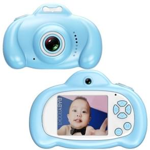 16.0 Mega Pixel Dual-Camera 2.0 inch Screen Cartoon HD Digital SLR Camera for Children (Blue)