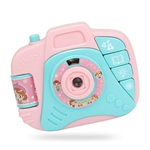 Children Cartoon Projector Simulated Camera Educational Toys (Pink)