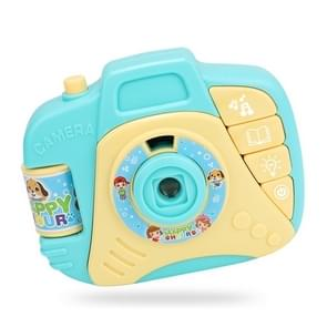 Children Cartoon Projector Simulated Camera Educational Toys (Blue)