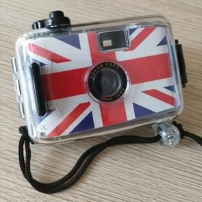 SUC4 British Flag Pattern Retro Film Camera Mini Point-and-shoot Camera for Children 5m Waterproof
