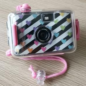 SUC4 Heart Pattern Retro Film Camera Mini Point-and-shoot Camera for Children 5m Waterproof