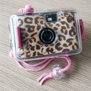 SUC4 Leopard Print Retro Film Camera Mini Point-and-shoot Camera for Children 5m Waterproof