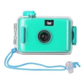 SUC4 5m Waterproof Retro Film Camera Mini Point-and-shoot Camera for Children (Cyan)