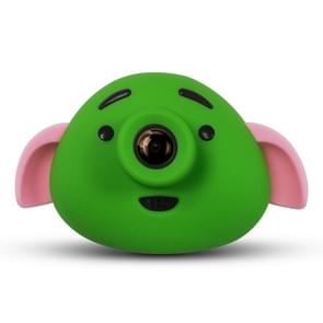 Cartoon Pig 0.3 Mega Pixel Dual-Camera 1.8 inch Screen Digital Camera for Children(Green)