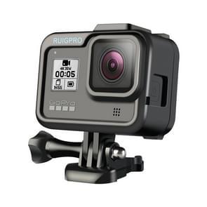 RUIGPRO for GoPro HERO8 Black Standard Border PC ABS Frame Mount Protective Case(Black)